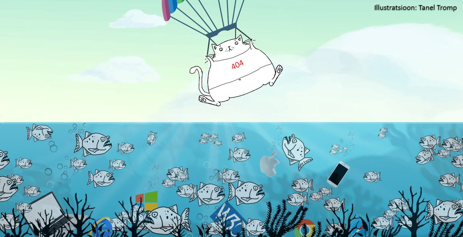 Cat flying with a parachute wearing a 404 error t-shirt