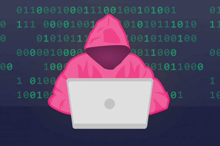 a cyber criminal hacking