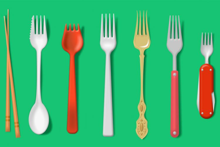The picture about different kind of forks - Illustrated by Mari-Ell Mets